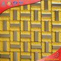 le métal jaune kb15 machine toit de tuiles rondes en acier inoxydable mosaïque de carreaux de mosaïque en métal