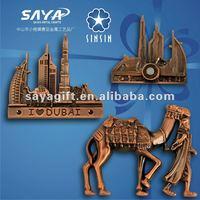 2012 free design 3D metal fridge magnet
