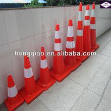 "36""(90cm) solid orange PVC traffic pylon"