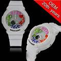 Custom g- shor tempo dual assistir, moda dupla movt relógio digital, relógio digital