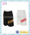Silk creen impressão shorts esportivos, shorts de corrida