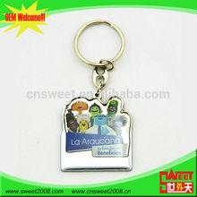 2014 new fashion wholesale Promotional custom metal keychain