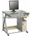 Parede de vidro montada do computador e mesas de estudo móveis( dx- 8801g)