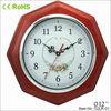octagonal wooden gift decor retro clock