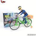 2013 el último diseño bo música y la luz de la bicicleta en miniatura de juguete