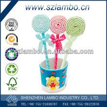 Cute lollipop shaped ballpoint pen Creative plastic pens for promotional