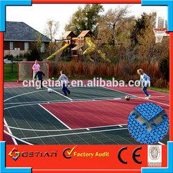 outdoor basketball court flooring cost