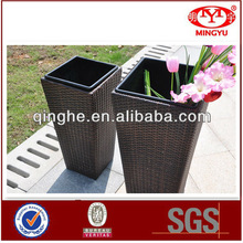 QHA-2047 Cheap Garden Furnitures In Set & Rattan/Wicker Vase Set & Flower Plater Outdoor
