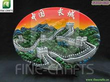 polyresin grande muro scenario turistica souvenir placca