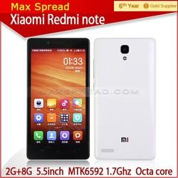 Hot xiaomi redmi note 4g 2GB RAM 8GB ROM 5mp dual camera mobile phone