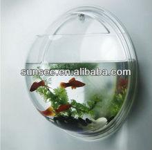 acrylic aquarium, wall mounted acrylic Fish Bowl , Led light optional. EE-018