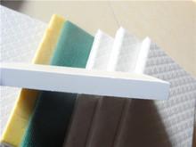 Tecido decorativa painéis de parede teto / som resisfant e resistente ao fogo / fibrglass placa