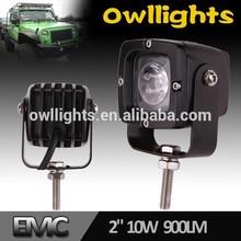 "2"" 10W LED Work Lights for Heavy Duty Machine Black 10w LED Spot Light for Light Truck 12V LED Lights car led headlight"