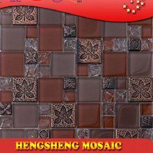 Latest design decoration wall tile floor tile glass mix ceramic mosaic split face stone mosaic tile
