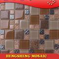 ultimo disegno decorazione parete mattonelle di pavimento di ceramica materiale da costruzione a mosaico mix di vetro sintetico mattonelle di pietra artificiale