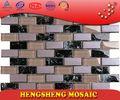 Nouveau Design chinois Foshan placage bande Cube verre mosaïque carreaux de granito