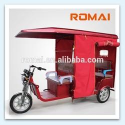 2014 ROMAI 48V 850W e rickshaw for india,e-tricycle.