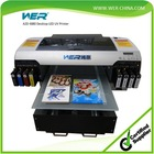 A2 size uv flatbed printer with Two Epson DX5 Heads 1 year warranty hot sale! high configuration