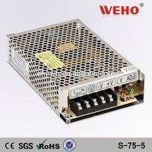 OEM/ODM led switching model power supply metal case 5v 75Watts power supply