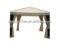 garden steel metal frame outdoor rattan roman gazebo tent