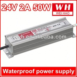 IP67 50W 24V waterproof constant voltage led driver