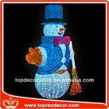 Lighted inflatable snowman cartoon
