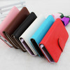 flip leather wallet stand case for iphone 5