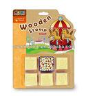 DIY Decoden Children Wooden Stamp Set Rubber Stamps - Various Animals ( Elephant etc.) - Wooden Stamp Set (OEM Also Welcome)