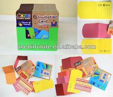 6 Invitation carte et 77 Sticker - Art et artisanat activités pour 4 ano de