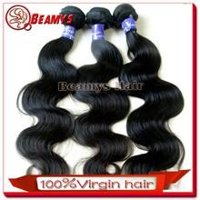 Natural body wave 100% human peruvian virgin hair, Gorgeous100% raw unprocessed virgin peruvian hair