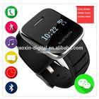Sync mp3 player answer phone calls alarm digital multimedia mobile watch