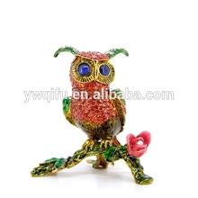 bird metal trinket box/animal golden figure/alloy animal gifts