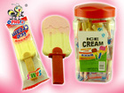 Interesting Ice Cream Shaped Pressed Dextrose Candy With Whistle