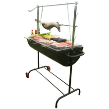 Auplex iron outdoor barbecue bbq machine party charcoal bbq grill stove smoker oven bbq party NO.AU-CL