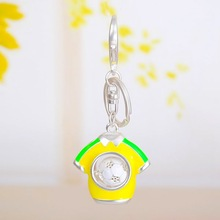 The football World Cup key chain pendant Color the ball bag with all sorts of jewelry
