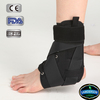 black canvas laced up sports / ankle brace with strap