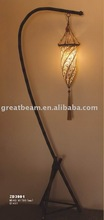 Helix pattern fabric floor lamp