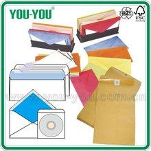 10#6# C6/DL/C4/C5 White gummed envelope and pull & seal envelope