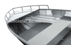 AV type fully welded aluminum boat
