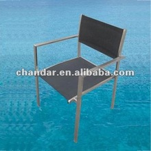 Stainless steel frame with mesh dining chair