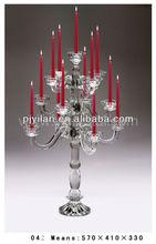 nuovo design a buon mercato candelabri di cristallo di nozze di cristallo candela titolari di nozze tavolo decorazioni