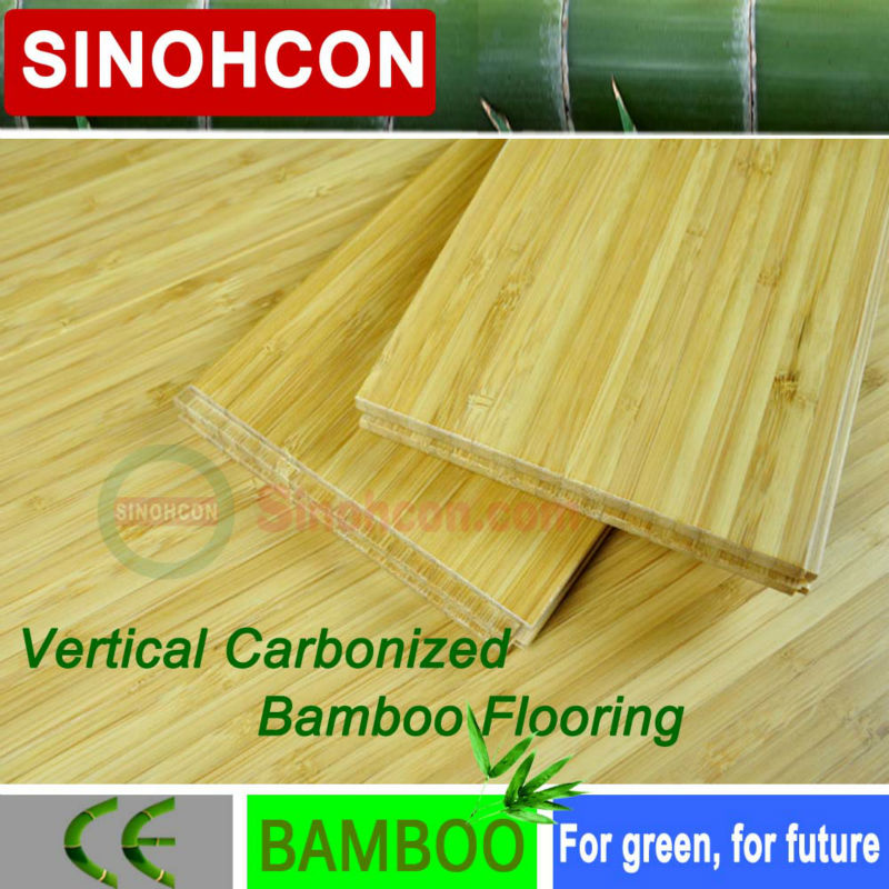 CE certified Pure Green Vertical Chocolate Bamboo Flooring