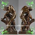 Güçlü ve Bonny yl-k053 adam bronz heykel