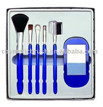 wonderful sky blue makeup brush set