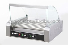 CE certificated electric Hot dog roller and glass cover