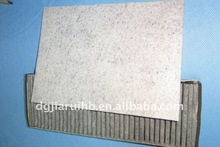 nonwoven auto activated carbon air filter materials