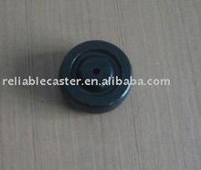 3 inch caster wheel black solid rubber wheel