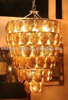 2014 Glod color Modern hotel lobby chandelier/Glass big chandelier lamp/decorative lamp/light