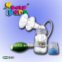 Advanced BPA FREE manual breast milk pump with PP feeding bottle