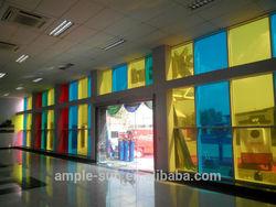 Transparent double glass colorful solar panel